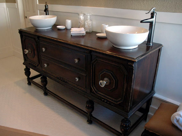 Perfect Bathroom In Grey Repurposed Dresser Into Vanity And Dresser Mirror